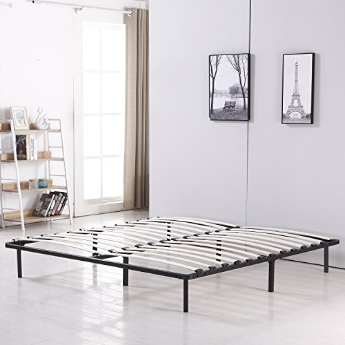 Bestmart INC Platform Metal Bed Frame Poplar Wooden Slat Support Easy To Assemble (California King)