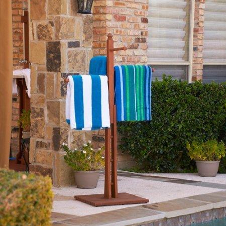 Natural Wood Design Poolside & Spa Towel Rack