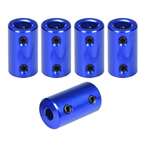 - ARQQ 5mm to 8mm Flexible Shaft Coupling Rigid Stepper Motor Wheel Coupler Connector Aluminum Casing with Screw +Hexagon Wrench(Pack of 5)