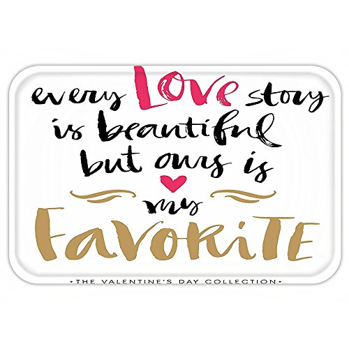 Kisscase Custom Door MatValentineDay Every Love Story iBeautiful but OuriMy Favorite Quote Romantic Idea Decor White Black (Original Halloween Costume Ideas College)