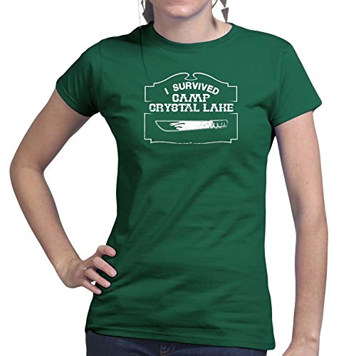 [Womens Crystal Lake Survivor Halloween Costume Ladies 2X-Large Forest Green] (Lake Forest Halloween Costumes)