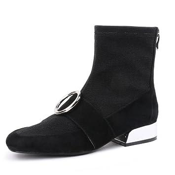 Botas de tacón alto para mujer Botines Botas simples Botas de martin Áspero con botas Era