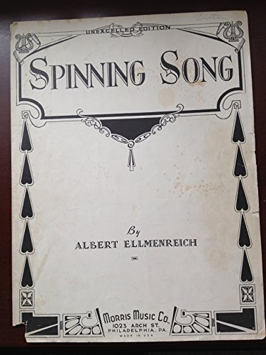 Spinning Song, Op. 14, No. 4 Rare Vintage Piano Sheet Music ()