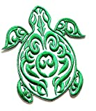 Nipitshop Patches Beautiful Design Green Sea Turtle Animal Cartoon Kids Patch Embroidered Iron On Patch for Clothes Backpacks T-Shirt Jeans Skirt Vests Scarf Hat Bag