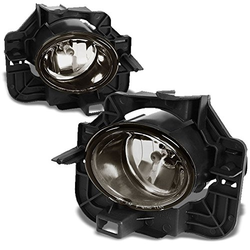 Left+Right Smoke Lens OE Front Bumper Replacement Fog Light Lamp+Bulb For 07-09 Altima 4DR (Fits Sedan Models Only)