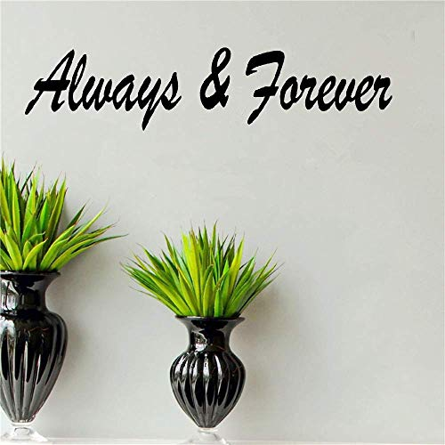 barblue Vinyl Wall Decal Quote Stickers Home Decoration Wall Art Mural Always & Forever for Living Room]()