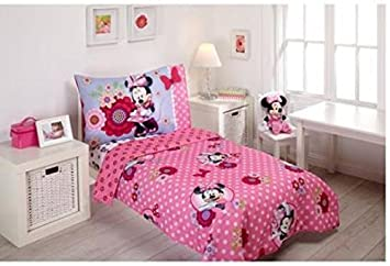Disney Minnie Mouse Bow Power 4 Piece Toddler Bedding Set