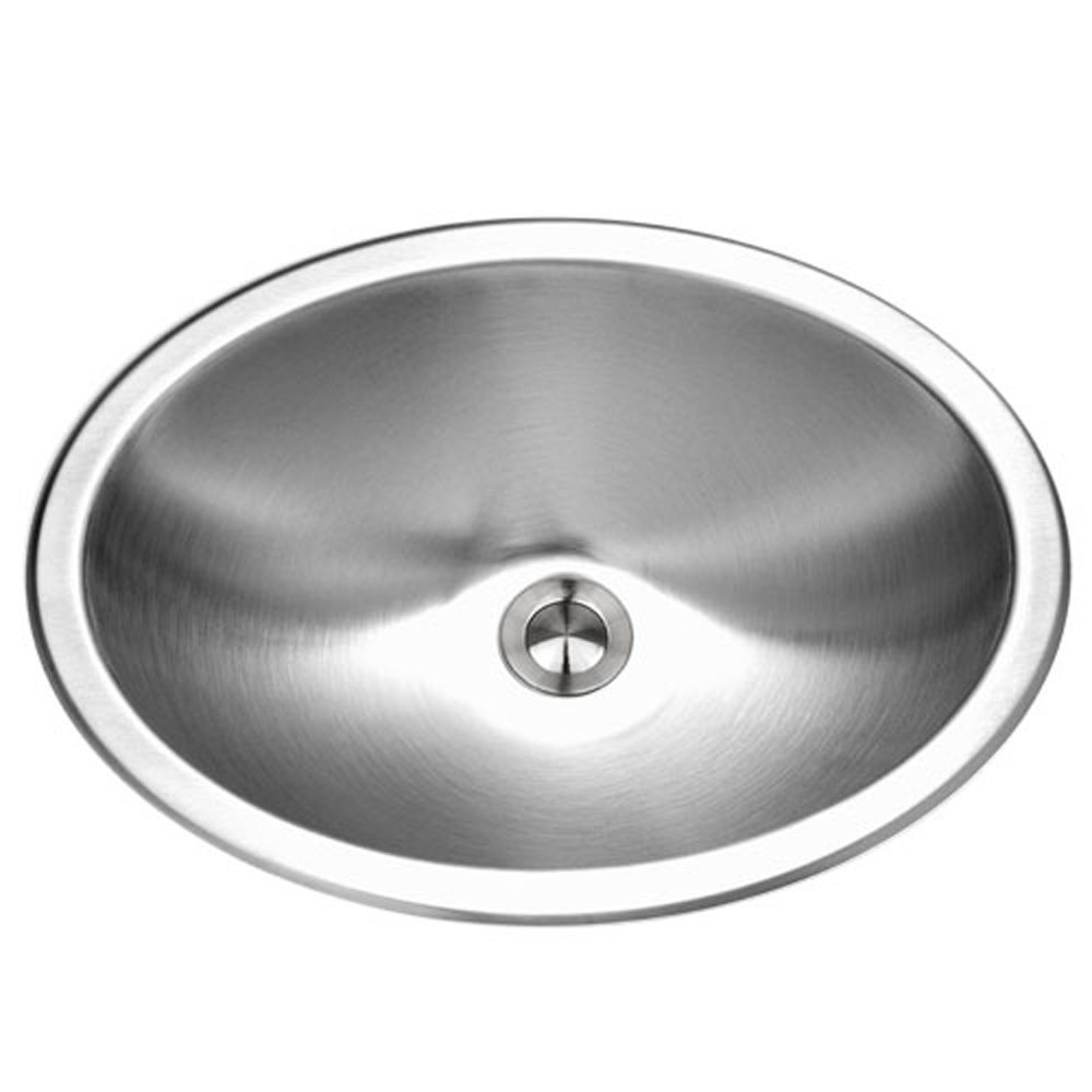 Houzer CHT-1800-1 Opus Series Topmount Stainless Steel Oval Bowl Lavatory Sink (Renewed)