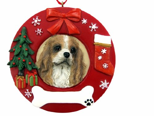(E&S Pets King Charles Cavalier Personalized Christmas Ornament)