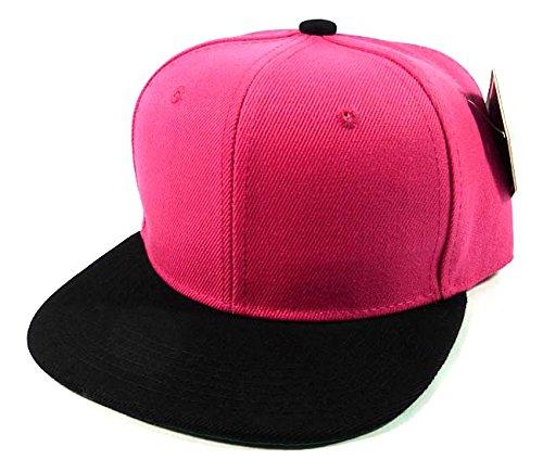 Kids Blankスナップバックキャップファッション – ホットピンク|ブラック   B00LCI63J6
