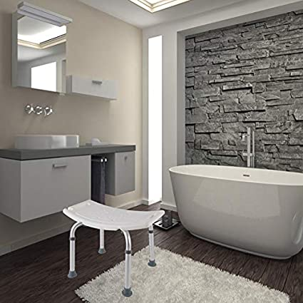 aufun ducha taburete ducha silla 38 – 53 cm de altura regulable – Taburete  antideslizante baño 09b6e049a672