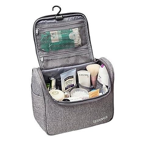 61f577e27 Neceser de Viaje para Colgar Bolsas de Aseo Cosméticos Organizador  Accesorios de Baño Material Resistente y Impermeable Bolsas de Aseo  Personal Viajes ...