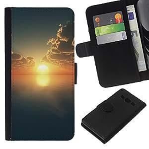 JackGot ( Natura Bella Forrest verde 159 ) Samsung Galaxy A3 la tarjeta de Crédito Slots PU Funda de cuero Monedero caso cubierta de piel