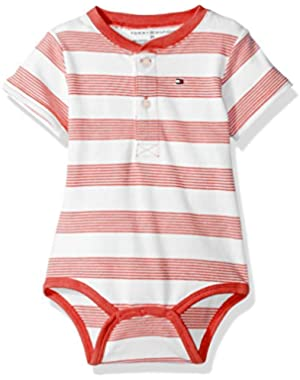 Tommy Hilfiger Baby Boys' Short Sleeve Striped Walli Bodysuit