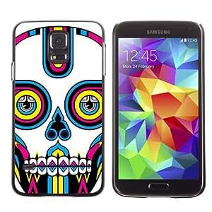 Designer Depo Hard Protection Case for Samsung Galaxy S5 / Colorful Sugar Skull Tattoo