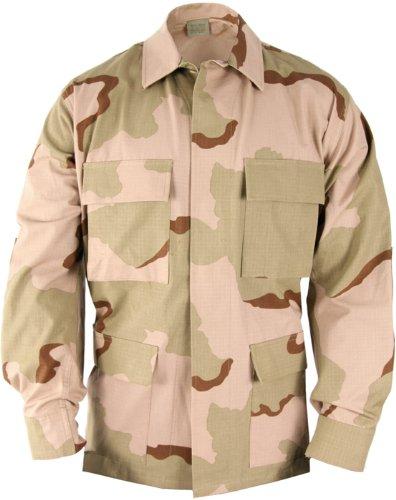 USA Military Surplus BDU Shirt- Coat Tri-Color Desert Camouflage Size Small Regular 3 Color
