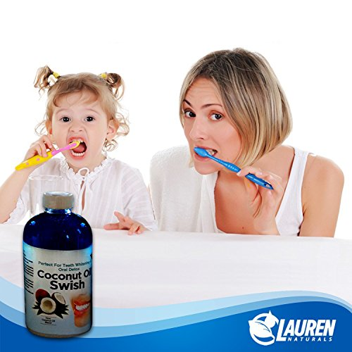photo Wallpaper of Lauren Naturals-Coconut Oil Pulling And Mouthwash: Excellent For Teeth Whitening, Dry Mouth, & Oral-