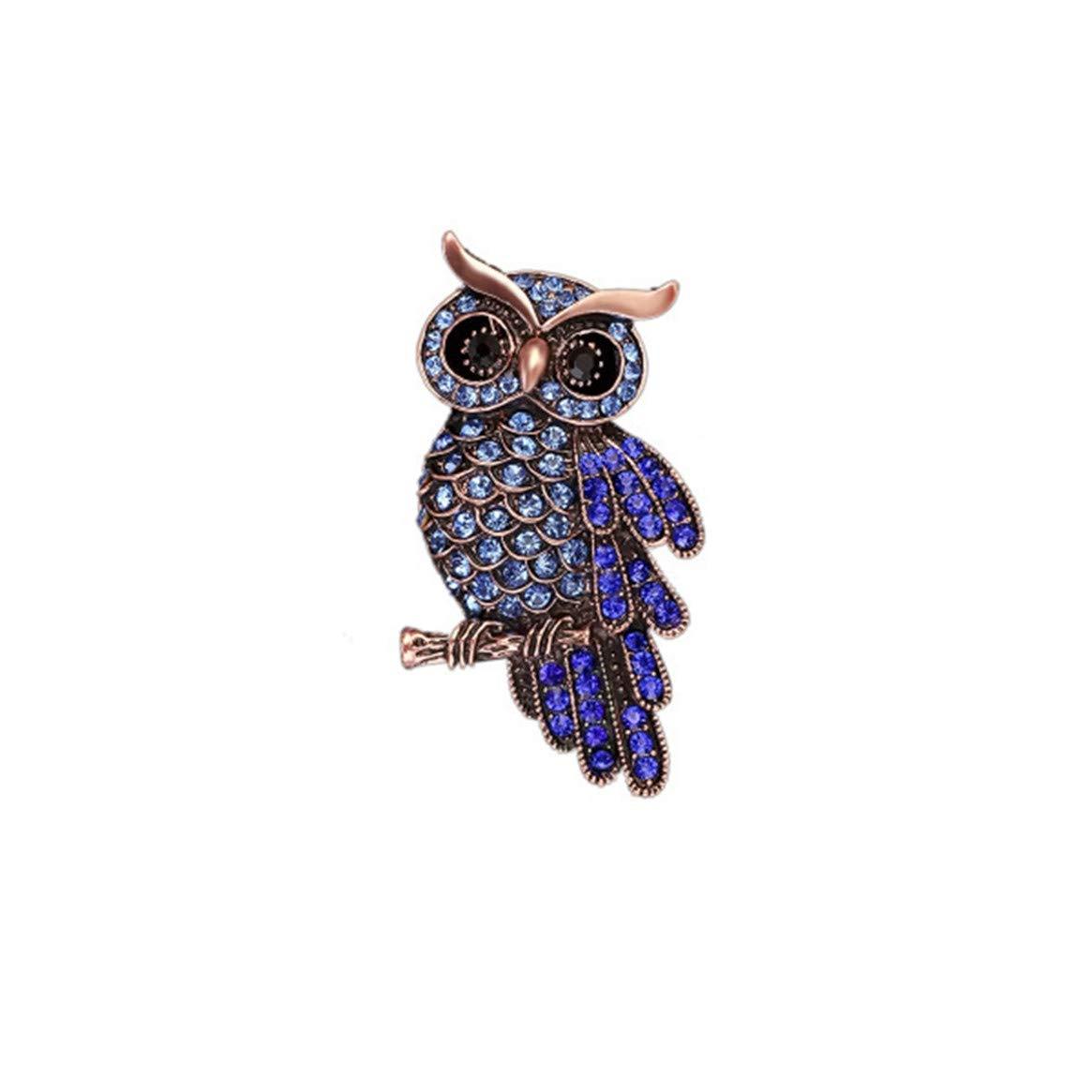 WEIHEE Brooch Pins Elegant Hollow Rhinestone Brooches Wedding Owl Designed Brooch Pin Clothes Lapel Pin Badges