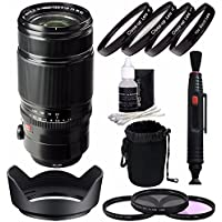 Fujifilm XF 50-140mm f/2.8 R LM OIS WR Lens + 72mm 3 Piece Filter Set (UV, CPL, FL) + 72mm +1 +2 +4 +10 Close-Up Macro Filter Set with Pouch Bundle 2