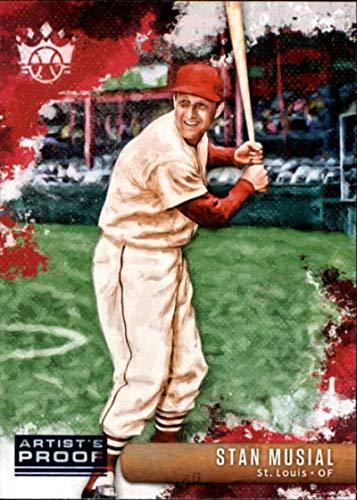 (2019 Panini Diamond Kings Artist Proof Blue #1 Stan Musial St. Louis Cardinals Baseball Trading Card)