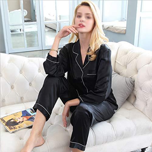 Seda Shiduoli Pijamas Xxl 100 Otoño Invierno Para White Dormir color De Mujer Size White U1EBW1xwSq