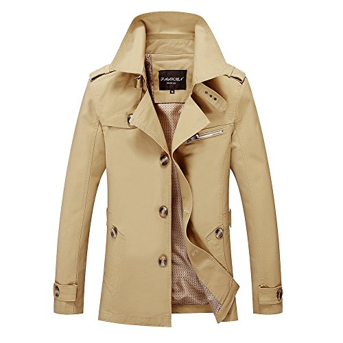 Giacca Cappottino Uomo Casual Leggera Giacche Giallo Lunga Slim Manica Cappotto Vintage Moda HExq4x1