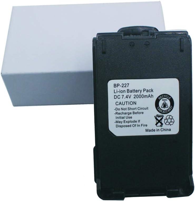 BP-227 Battery for ICOM IC-F50 IC-F50V IC-F51V IC-M87 IC-M88 IC-E85 IC-V85 Li-ion Battery with Belt Clip 2000mAh