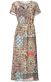 RICK CARDONA by Heine Maxikleid Druckkleid Kleid Sommerkleid Blau ... 0f53fa35b0