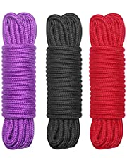 EYLEER 32 Feet Soft Durable Skin Friendly Cotton Silk Rope Cord for Cosplay DIY Craft All Purpose,Pack of 3 (Multicolors)