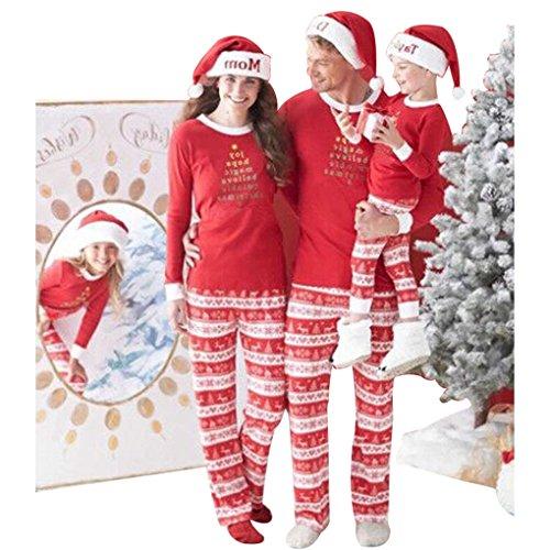 U-WARDROBE Novelty Christmas Letter Printed Matching Family Christmas Pajama Sets Mother Only M (Hers And Christmas Pyjamas His)