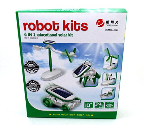 6-in-1 Educational Solar Kit Build Your Own Science Toy DIY by PowerTRC