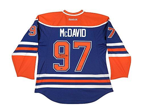Connor McDavid Autographed Edmonton Oilers Authentic Reebok Blue Jersey UDA