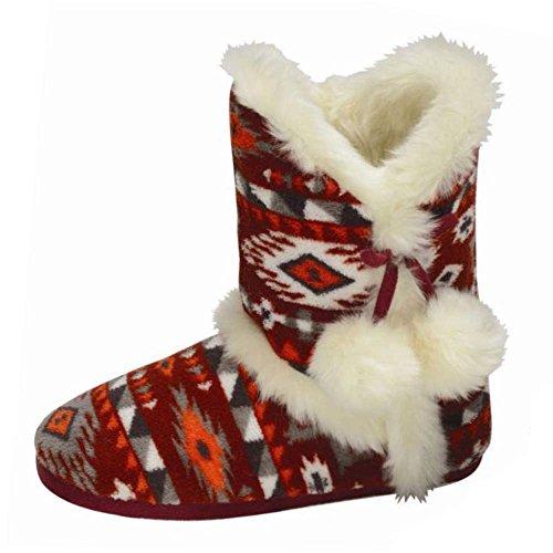 Boots Slipper DLH7885 Dunlop Womens Julia Red Adelphe wqIxtUxa
