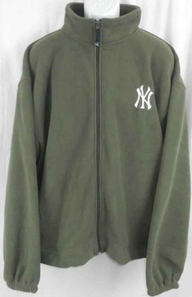 ed3c99bcb66 Amazon.com   Majestic New York Yankees MLB Mens Embroidered Logo Full Zip  Olive Green Fleece Big Sizes   Sports   Outdoors