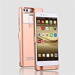 YOUNGFLY 4500mAh Phone Power Bank as Phone Case Rechargeable Backup Battery Kick stand For Huawei P9 Gold