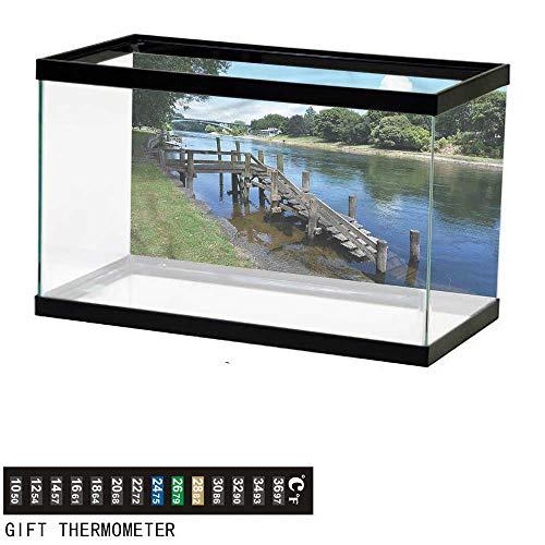 Suchashome Fish Tank Backdrop Outdoor,Waikato River Hamilton,Aquarium Background,24