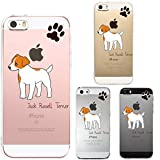 J-PASTEL Iphone Se Iphone5s/5 Shell Case Anti-Scratch Clear Back for Iphone Se Iphone 5s/5 Dog Cute Pet Jack Russell Terrier 1