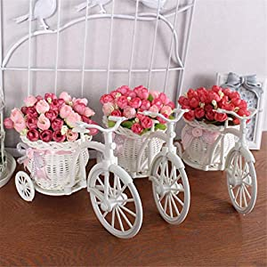 CUSODI Artificial & Dried Flowers 17 Kinds Style Rattan vase + s Meters Spring Scenery Rose Artificial Flower Set Home Decoration Birthday Gift 34