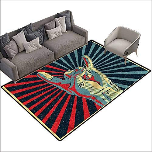 Carpet for Living Room Music,Rock n Roll Hand Sign 60