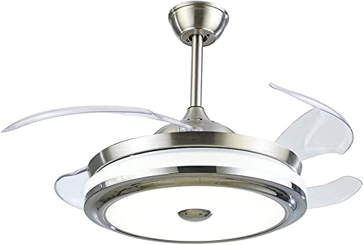 LUOLAX - Ventilador de techo con aspas invisibles retráctiles y ...