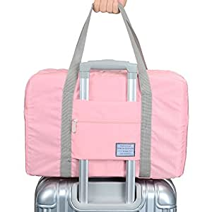 Arxus Travel Lightweight Waterproof Foldable Storage Carry Luggage Duffle Tote Bag (Indi Pink)
