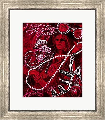 I Have Sterling Taste by Sher Sester Framed Art Print Wall Picture, Silver Scoop Frame, 19 x 22 inches