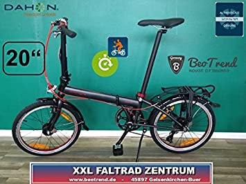 Bicicleta plegable Dahon Speed D7 Obsidian 20zoll/7gang/Deluxe del paquete