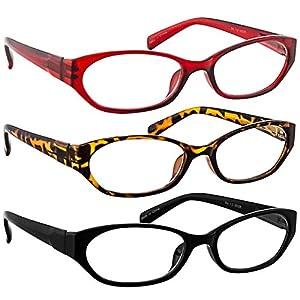 Reading Glasses 4.50 Tortoise Red Black (3 Pack) 9502 TruVision Readers
