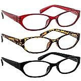 Reading Glasses 2.75 Tortoise Red Black (3 Pack) 9502 TruVision Readers