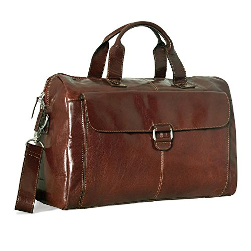 - Jack Georges Tuscana Classico Over Nighter/ Day Bag VT718 (COGNAC)