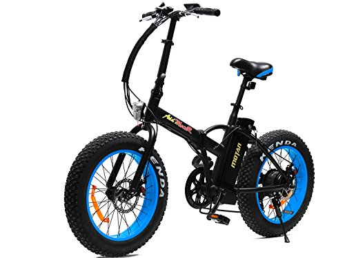 Addmotor MOTAN Electric Bikes 20 inch 500W 48V 4 Colors Fat Tire Portable Mini Folding Electric Bicycles 2017 M-150 E-Bike With Battery(Blue)