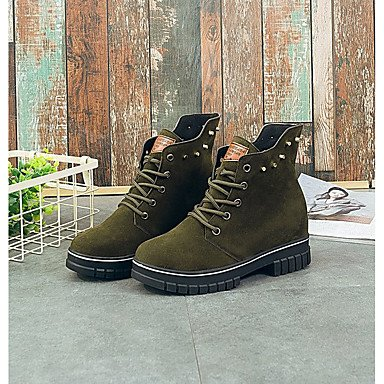 EU39 Cowboy CN39 Up Boots US8 Casual Western Heel For Pu Green Outdoor Toe Comfort RTRY Round Women'S Flat Ankle Boots Winter Boots Shoes UK6 Booties Lace 8w4TBXxqg
