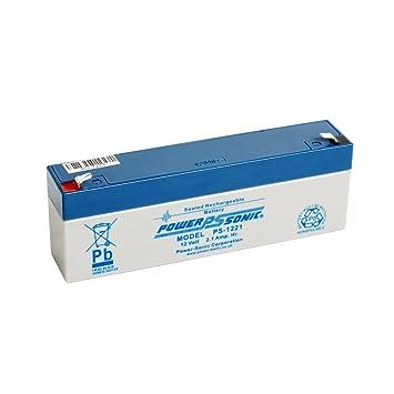 Power Sonic PS1221 12 V 2.1 Ah AGM batería - Apto para ...