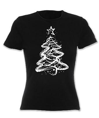 57af8499d80 Hoodiii Womens Festive Christmas T Shirt - Distressed Christmas Tree  Amazon .co.uk  Clothing